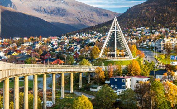 トロムソの町並み ノルウェーの風景