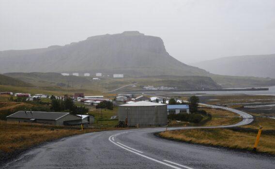 雨の日のアイスランドの風景