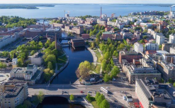 タンペレの町並み フィンランドの風景