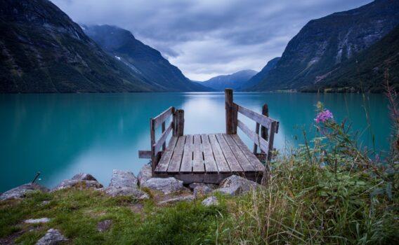 ノルウェーの湖 ノルウェーの風景