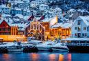 冬のベルゲンの風景