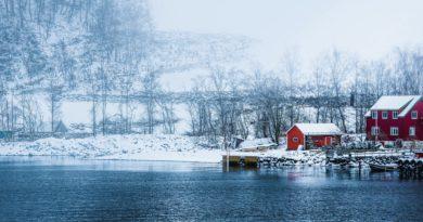 冬のノルウェーの風景