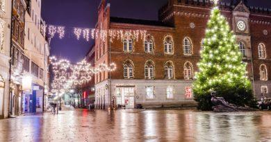 クリスマスのオーデンセの風景