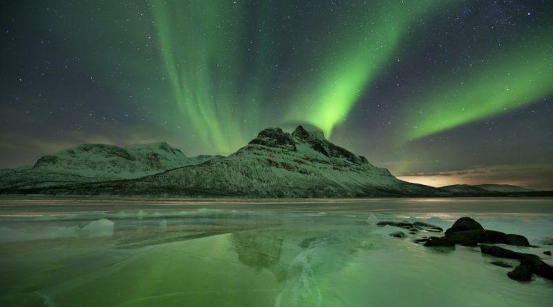 ノルウェーのオーロラ風景