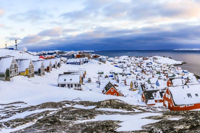 グリーンランドの首都ヌークの風景