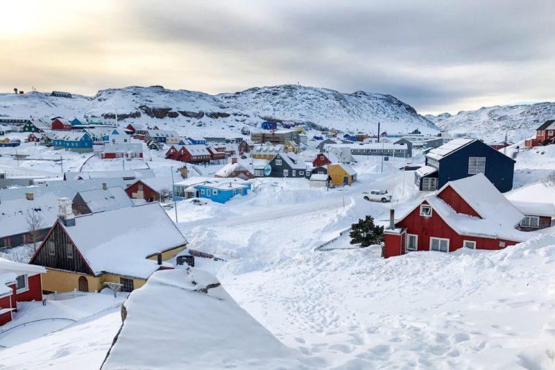 冬のグリーンランド カコルトクの風景