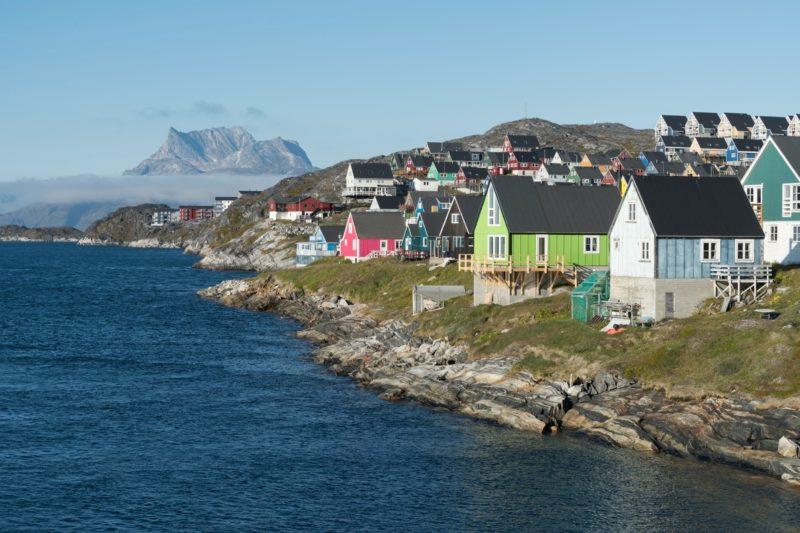 夏のグリーンランド ヌークの風景