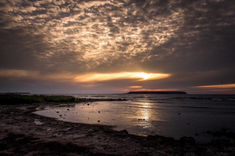 夕暮れのエクスタ ゴットランドの風景