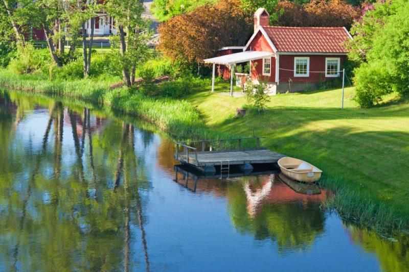 ヘクスビーの美しい風景 スウェーデンの田園風景