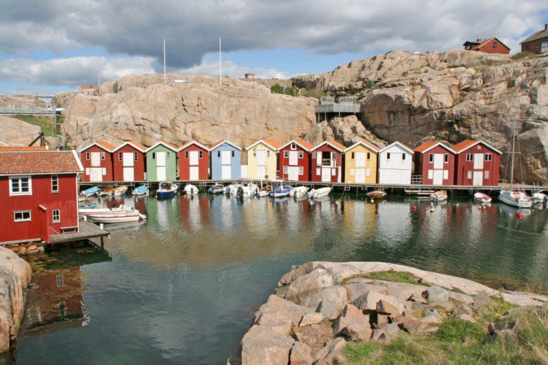 海に面した町スモーゲンの風景