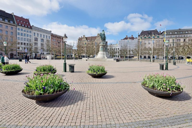マルメの伝統あるマーケット広場